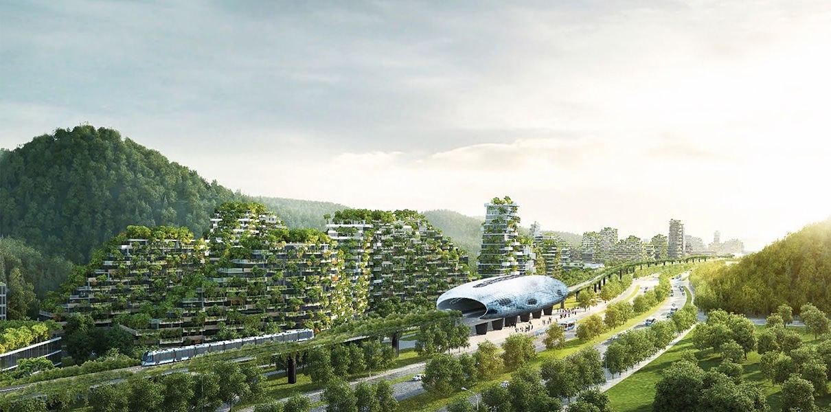 RgIhQDpDhXc В Китае началось строительство первого «города-леса»
