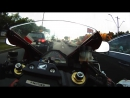 CBR 1000 RR vs city traffic - GO PRO HERO HD