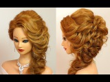 Party hairstyle for medium long hair tutorial