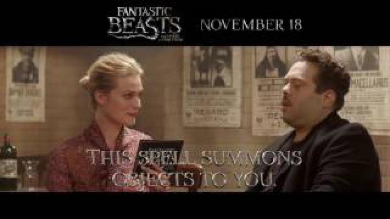 Fantastic Beasts Dan Fogler Alison Sudol quizzed on Accio spell