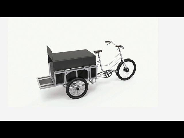 Мечта дачника - грузовой электротрицикл movE