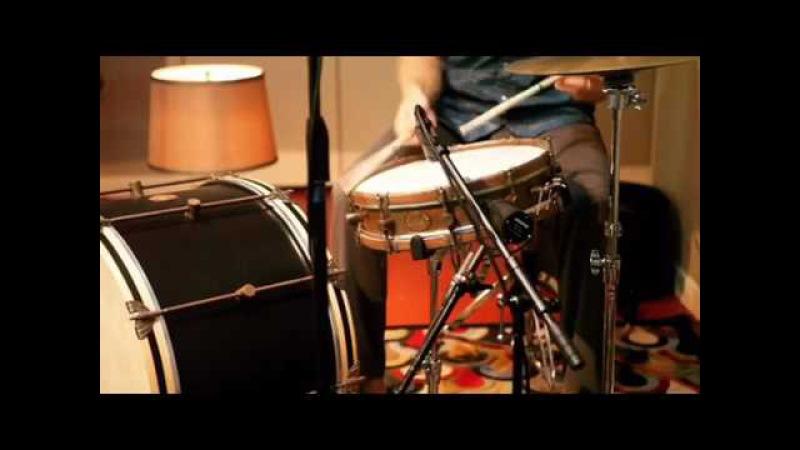 AF Drum Co. 3.5x15 Limited Edition Raw Brass Snare w/European Walnut Hoops