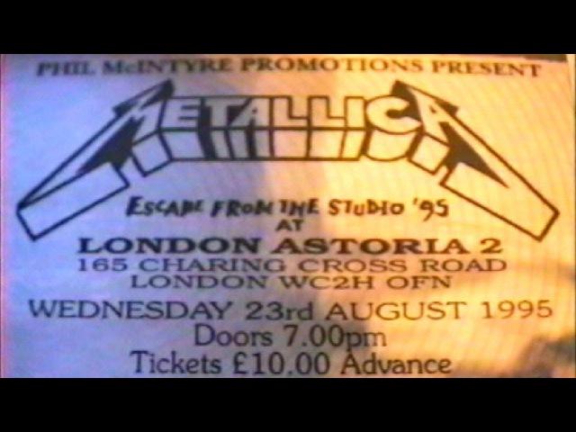 Metallica Live at London Astoria II 1995 MetClub Exclusive Gig 2 Cam Mix