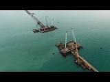 Строительство моста через Керченский пролив. Съемка с коптера  РИА Крым