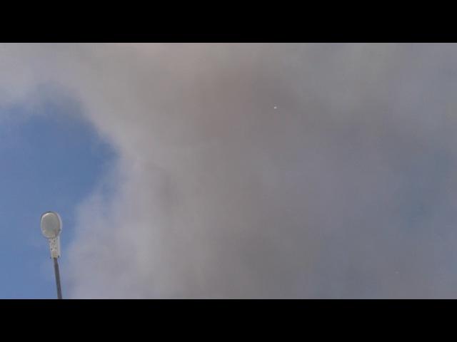 Северо-Курильск, 25.02.2017. Вулкан Эбеко,накрыл город пеплом.