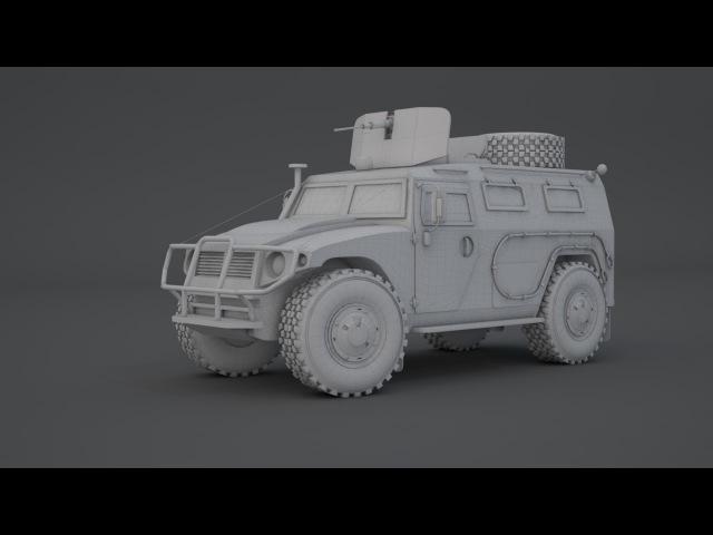 Modeling Gaz Tiger 3ds max tutorial part - 4