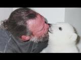 Mark Dumas and his Polar Bear