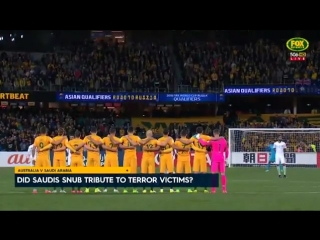 Saudi Arabias Soccer Team REFUSE To Line Up For Minutes Silence (VIDEO)
