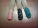Дотс в дизайне ногтей! Мозаика дизайн! Простой дизайн ногтей гель лаком!