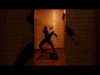 Тренировки с гирями вегана-сыроеда. Подъем гирь 32 кг 16 кг (48 кг) - 3 раза