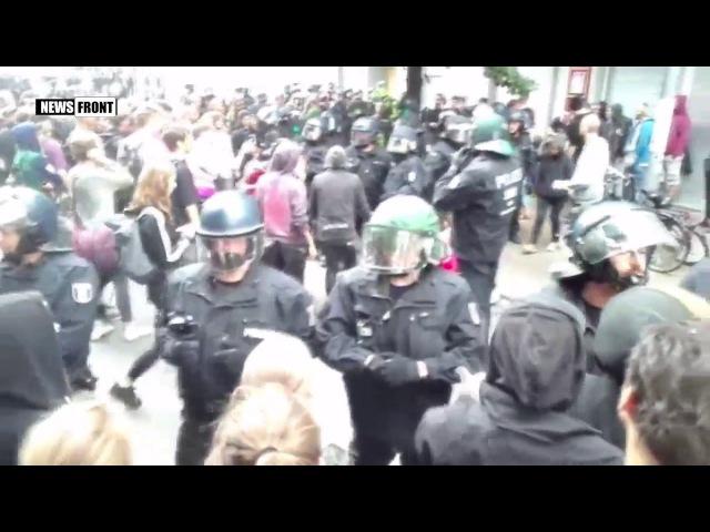 В Берлине произошли столкновения между сквоттерами и полицией