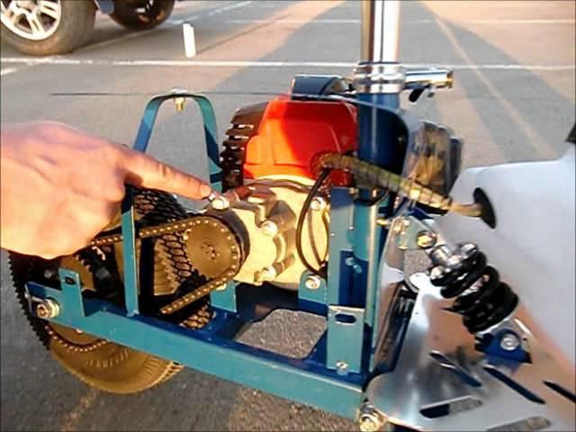 Замена масла в редукторе мотосамоката Вектор-3.wmv