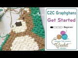 How To Crochet Corner to Corner (C2C) Graphghans for Beginners