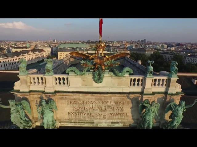 Вена - аэросъёмка. Vienna - aerial photography. Wien - Luftaufnahmen .