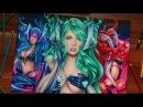 DJ Sona Speed Drawing | League of Legends art !