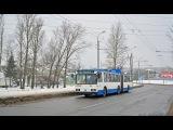 Поездка на троллейбусе БКМ-213, борт.№3442