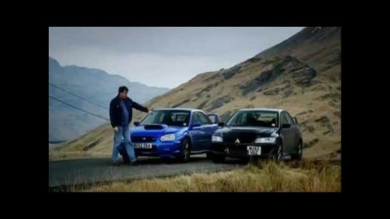 Что лучше Mitsubishi Evo VIII vs Subaru Impreza WRX STI Топ Гир