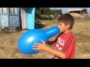 Blue balloon impossible to pop