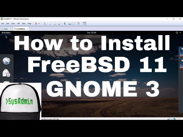 How to Install FreeBSD 11 GNOME 3 Apps VMware Tools Review on VMware Workstation [HD]