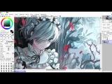 Anime Manga Girl Speedpaint ReZero - Rem Fanart on PAINT TOOL SAI
