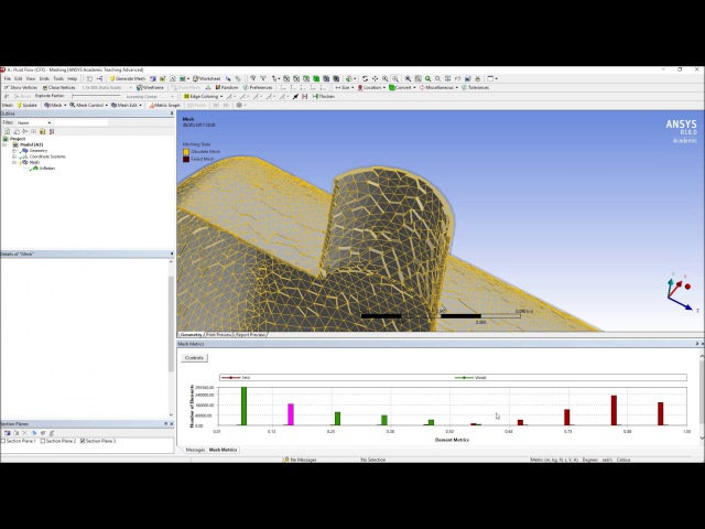 CFD ANSYS Explorations - Trying The Meshing Tool and some of its features