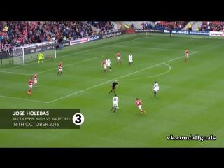 Чемпионат Англии 2016-17 / 40 лучших голов, забитых в 2016 году [HD 720p]