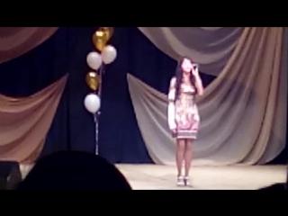 Дочка выступает в Д.К. на празднике в