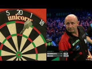 Kim Huybrechts vs James Wilson (PDC European Championship 2016 / Round 1)