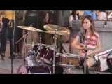 Most Entertaining Female STREET Drummers S White &amp Vela Blue Kick it out in Taiw_low.mp4