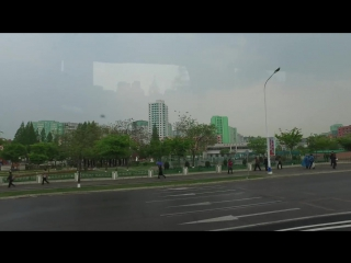 Pyongyang - streets in the city. North Korea May 2016 DPRK.