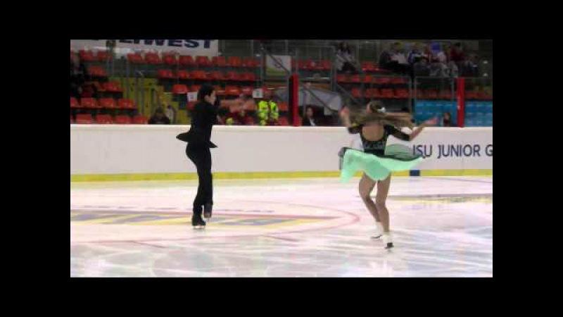 2015 ISU Jr. Grand Prix - Linz Short Dance Julia WAGRET Mathieu COUYRAS FRA
