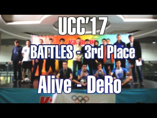 UCC 17   Battles 3rd place   Alive - DeRo