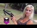 80lb Crossbow Pistol vs. Fruit Cans. American Gun Chic experiments reviews an 80lb Crossbow