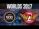 EDG vs SKT - (Best Game Worlds!) - Worlds 2017 Group Stage Day 2 - Edward Gaming vs SKT T1 Worlds
