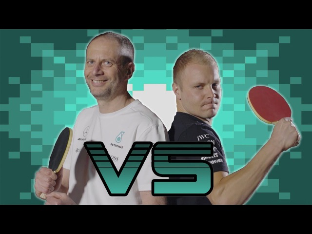 Challenge Accepted! Valtteri vs. Tony - Ping Pong, F1 Style!