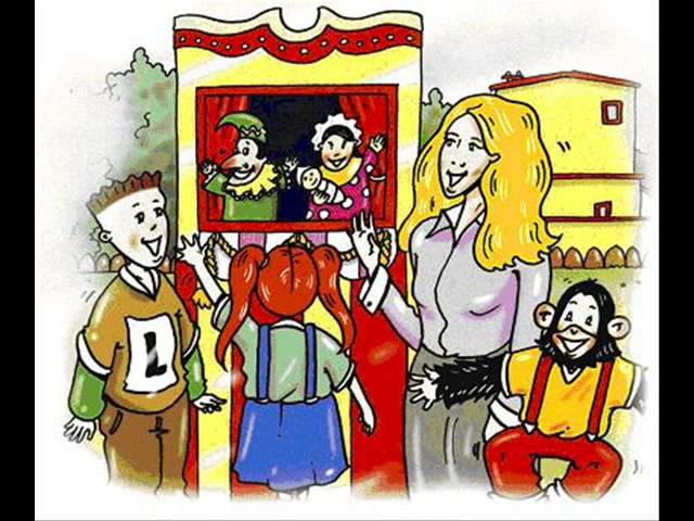English for children. Spotlight 2. Student's book. p 19 ex 3 - Punch and Judy - Hello song