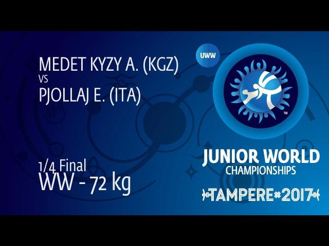 1/4 WW - 72 kg: A. MEDET KYZY (KGZ) df. E. PJOLLAJ (ITA) by VFA, 8-0