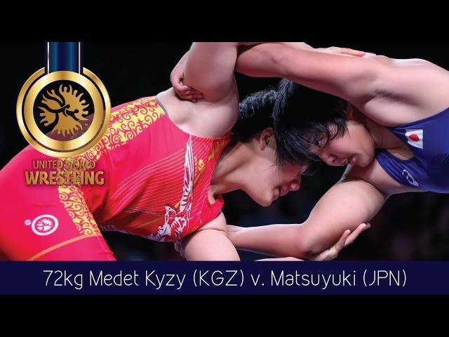 GOLD WW - 72 kg: A. MEDET KYZY (KGZ) df. Y. MATSUYUKI (JPN) by VPO1, 8-6
