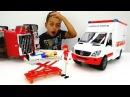 Игры для детей. АВАРИЯ на дороге 🚑 Скорая помощь и Пожарная машина 🚒 Видео про...