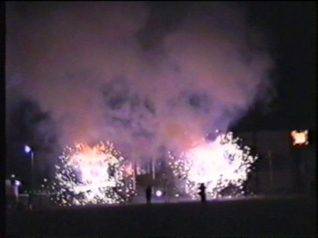 Фейерверк в честь 50 летия Бавлинской нефти 1996год