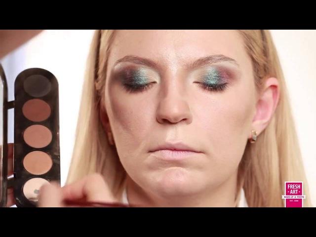 Сексуальный вечерний макияж Коррекция носа Sexy evening make up Урок №14