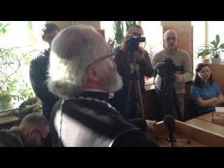 На процессе Соколовского выступает священник (15.03.2017)