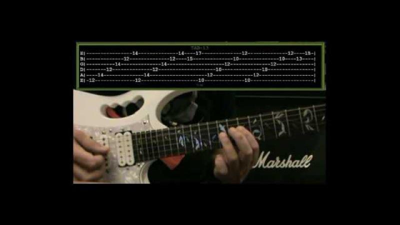 THE ECHO SONG (1/2) - (Guitar Lesson) - Paul Gilbert