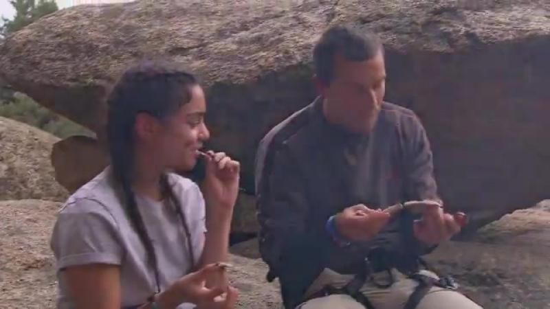 Звёздное выживание с Беаром Гриллсом с Ванессой Хадженс