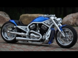 """Harley Davidson VRod """"Blue"""" by FREDY ¦ Motorcycle Muscle Custom Review Sound Exhaust"""