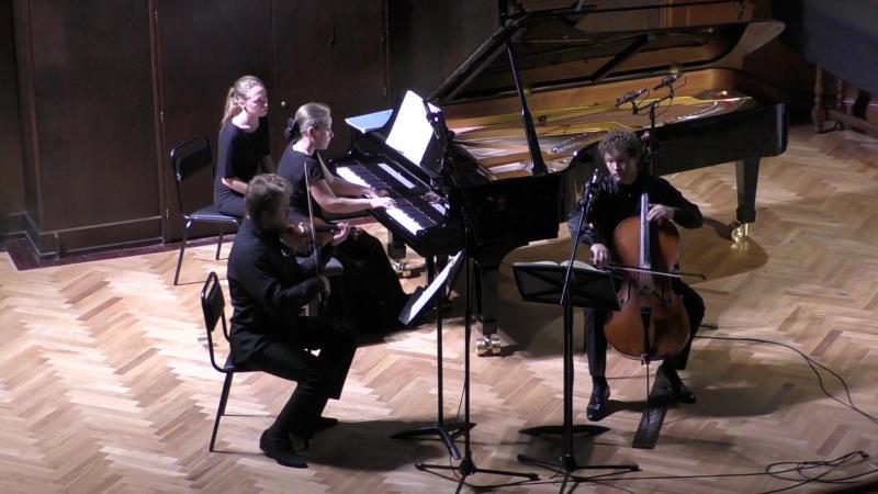 И. Брамс Трио для фортепиано, скрипки и виолончели до минор, соч. 101, «Брамс-трио» : Н Рубинштейн Н. Саченко К.Родин
