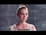 Elle and Dakota Fanning Talk Which Movies They Can't Turn Off  Vanity Fair+rus sub