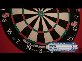 Rob Cross vs Dave Chisnall (European Darts Grand Prix 2017 / Quarter Final)