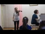 М.Брух, Концерт №1, g-moll, 1 часть (не до конца). Настя Верещагина, 23.05.17