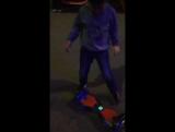 сынок катается на скутере в Астане
